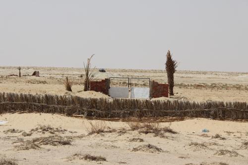 quem foi o excêntrico que mandou construir um portão no meio do deserto.....