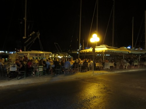 HERMOPOLIS WATER-FRONT AT NIGHT
