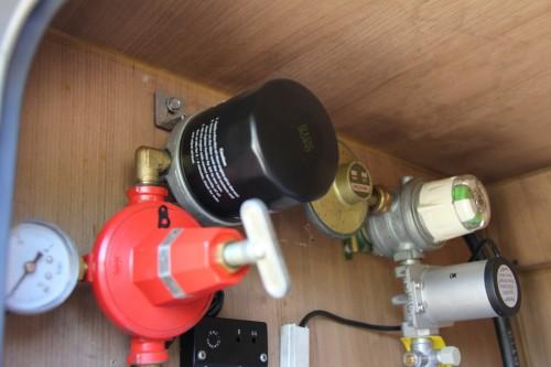 um filtro de gás é imprescindível por causa das impurezas e parafinas , etc no gás