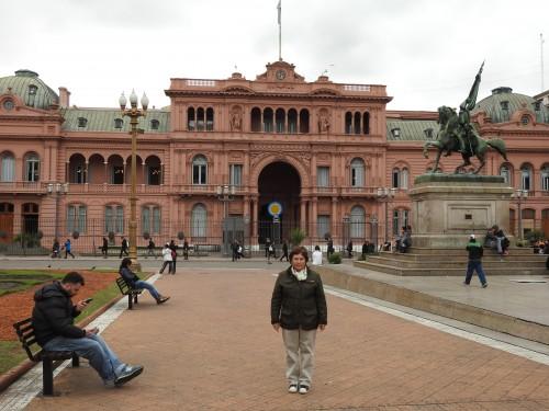 a casa da Cristina , ou seja , o palácio presidencial....