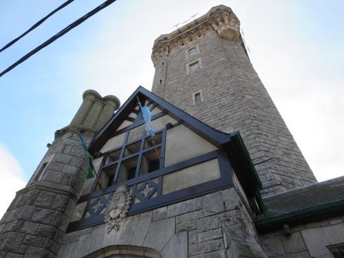 a torre de água , no topo da única colina de MAR DEL PLATA
