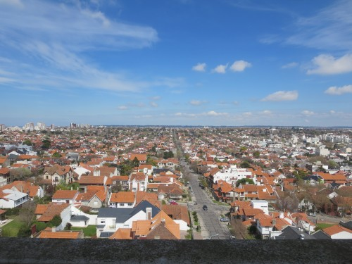 uma das vistas do topo da torre de água