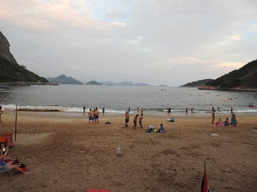 a praia vermelha