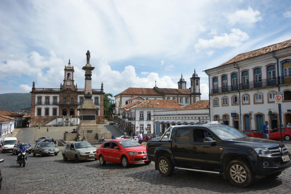 a praça principal da cidade