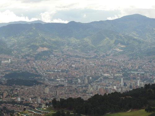 vista aérea de Medellin