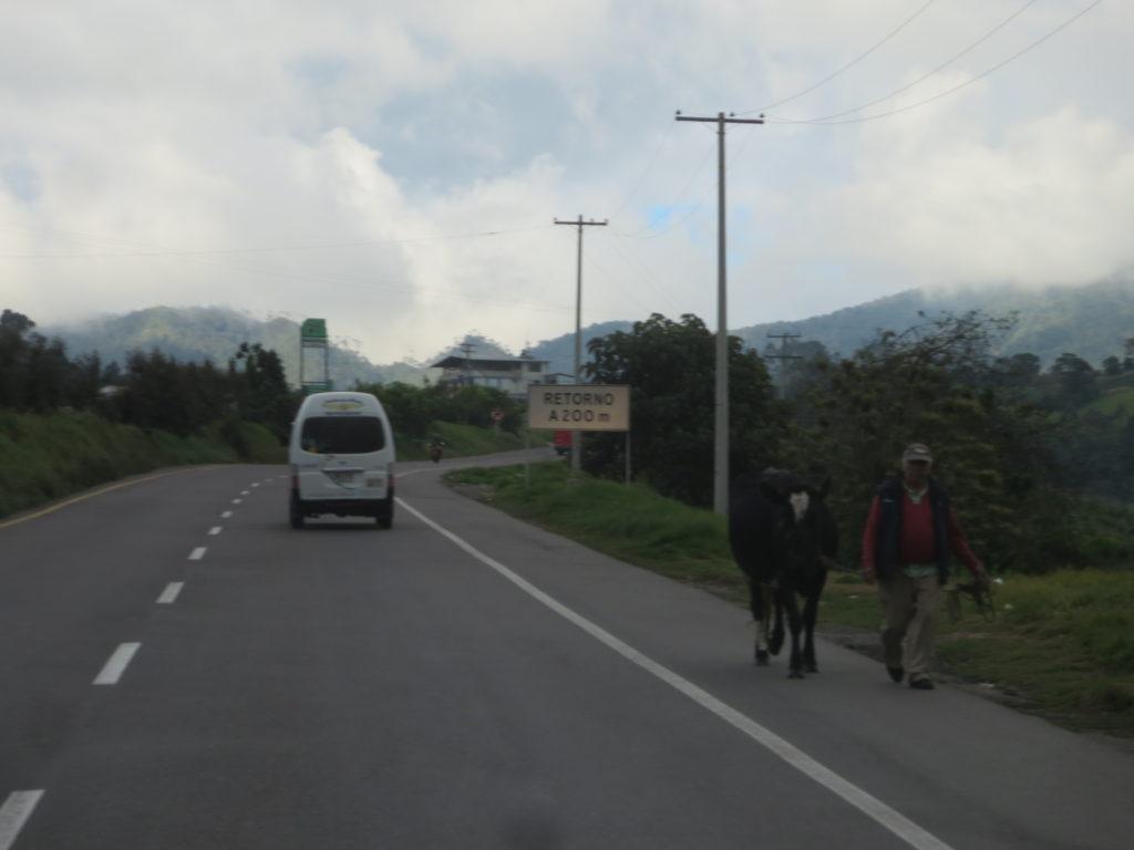 auto-estrada colombiana : trânsito em sentido contrário !!!